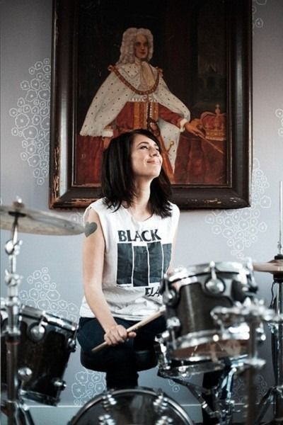 Kathleen Hanna, of Bikini Kill, Le Tigre, The Julie Ruin and all around riot grrrrl.