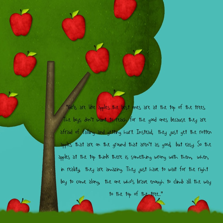 Chastity/Marriage and Apples - great object lesson & analogy for waiting for the right person and keeping your standards high.