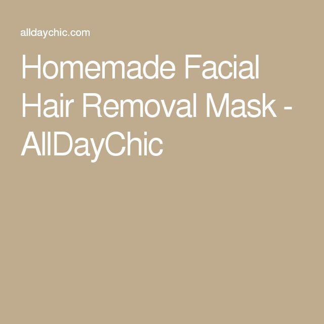 Homemade Skin Care: Homemade Facial Hair Removal Mask - AllDayChic