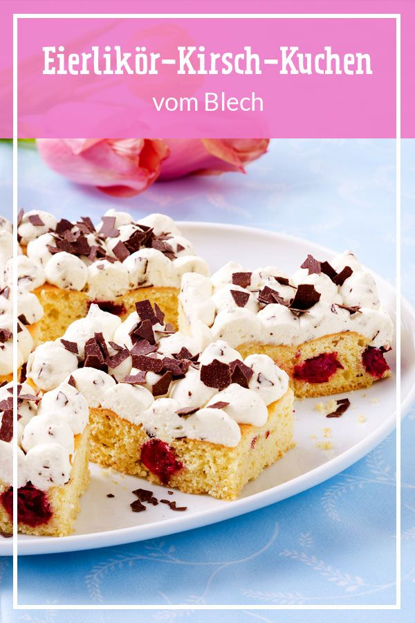 Eierlikor Kirsch Blechkuchen Rezept In 2020 Kuchen Blechkuchen Einfacher Nachtisch