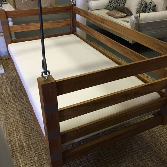 Porch Swing: The Teak Swing Bed FREE by LowcountrySwingBeds