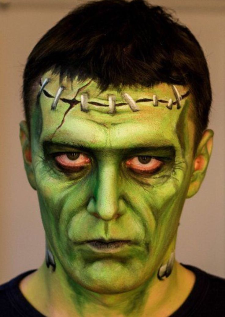the 25 best frankenstein face paint ideas on pinterest. Black Bedroom Furniture Sets. Home Design Ideas