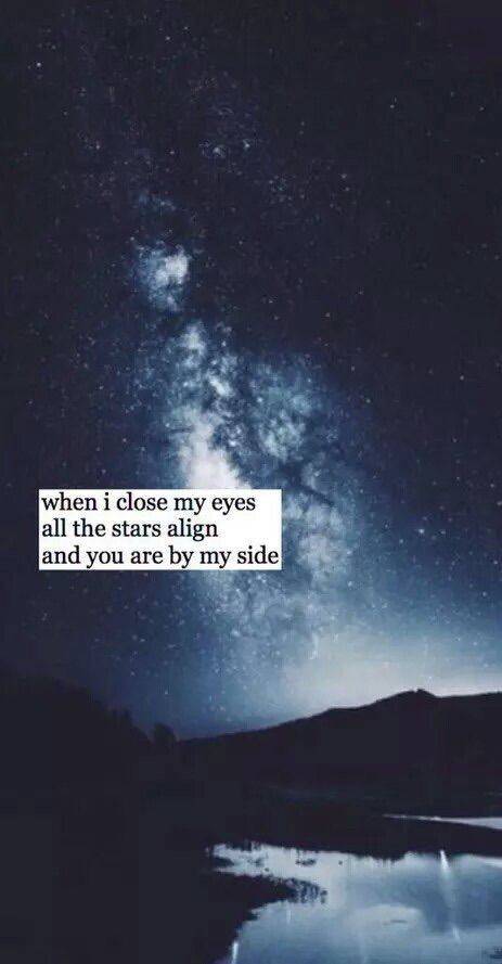 when I close my eyes...