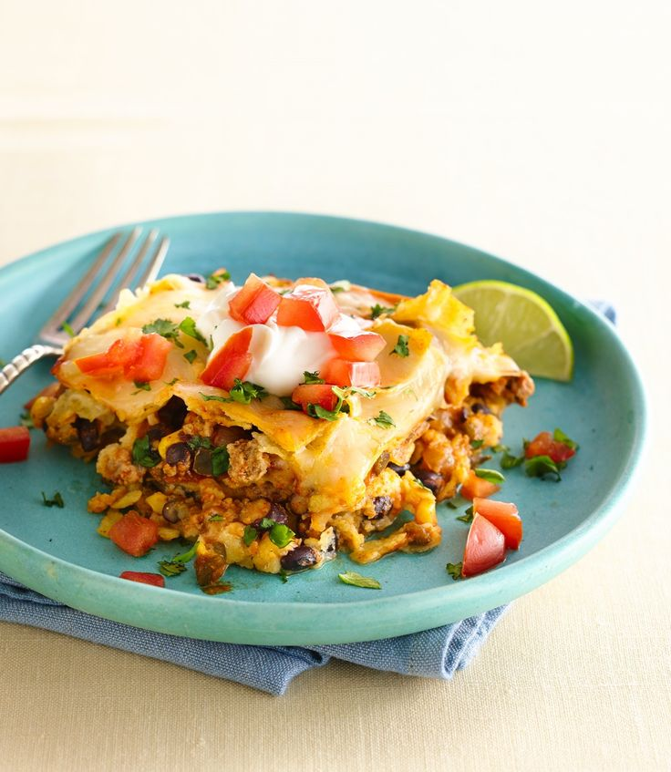 Treat your family to a lightened version of cheesy beef enchiladas, made with ease in the slow cooker. In a hurry to get out the door? Thaw the called-for frozen vegetables in a flash by placing them in colander and running cool water over them.