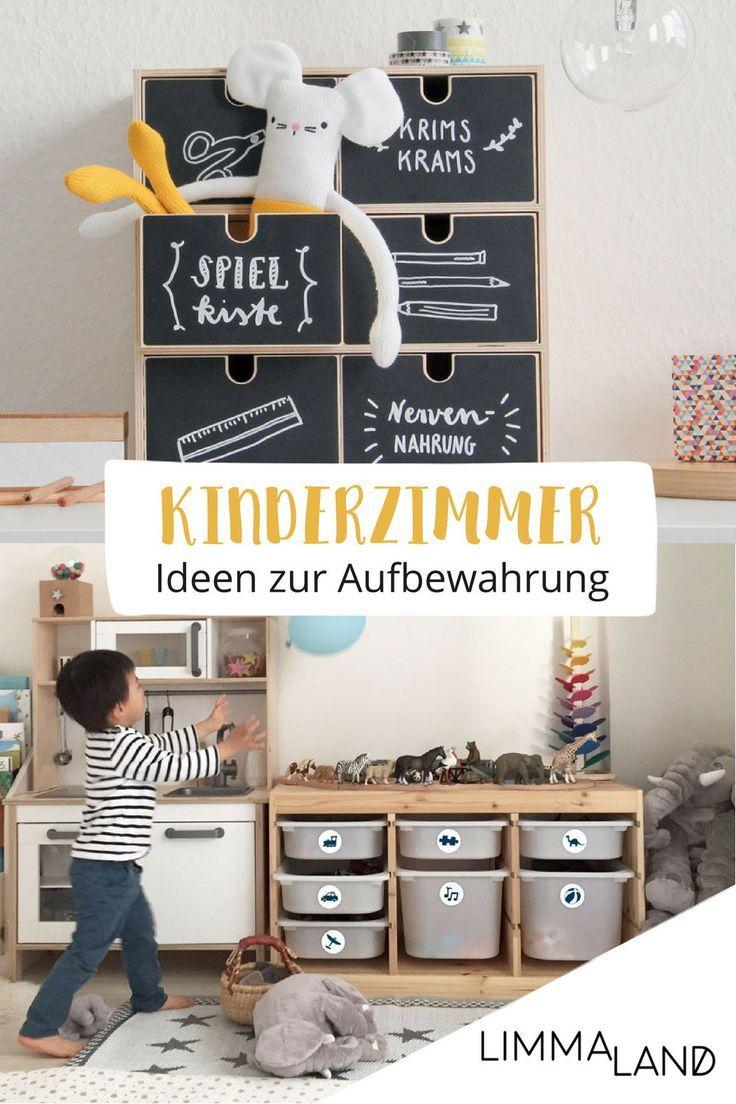 Ideen zur Aufbewahrung und zum Ordnung schaffen im Kinderzimmer.  Inspiration un…