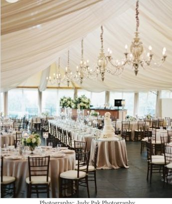 Cashmere Satin linen by Rentals Unlimited. Exquistite Events/Confectionery Designs