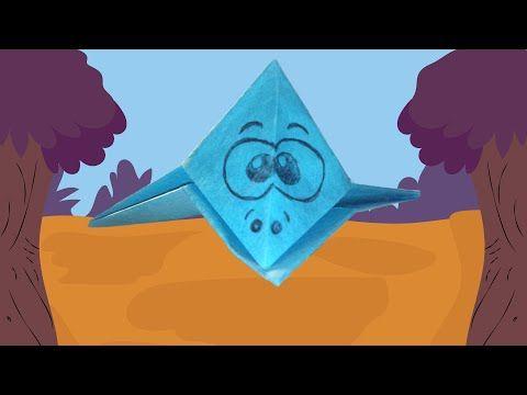 Vliegende dino vouwen (dinosaurus origami) - YouTube