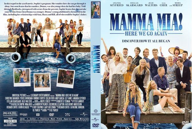 Mamma Mia Here We Go Again 2018 Dvd Custom Cover