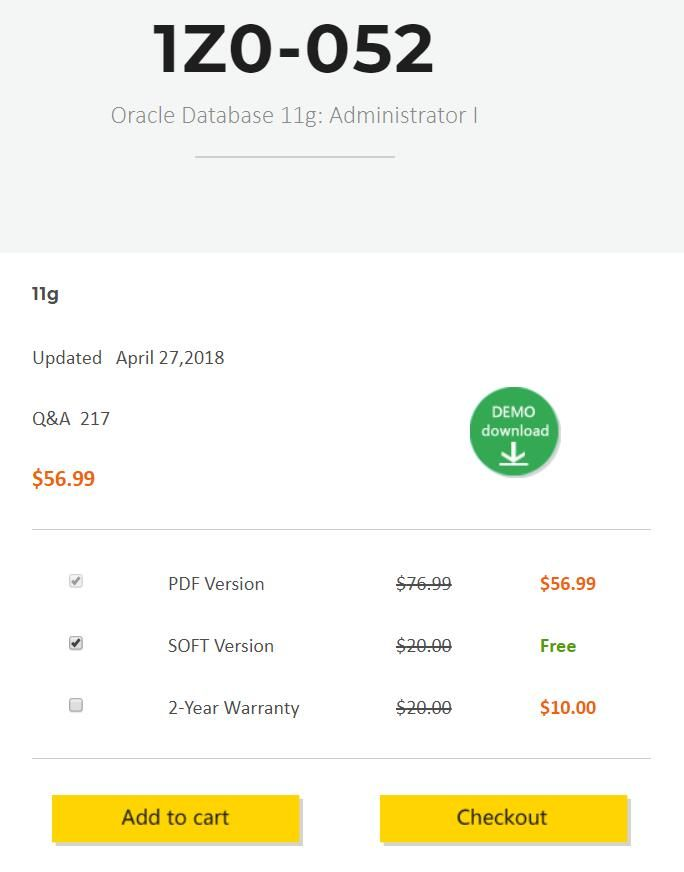 Certqueen Offer Latest Oracle Database 11g Administration I