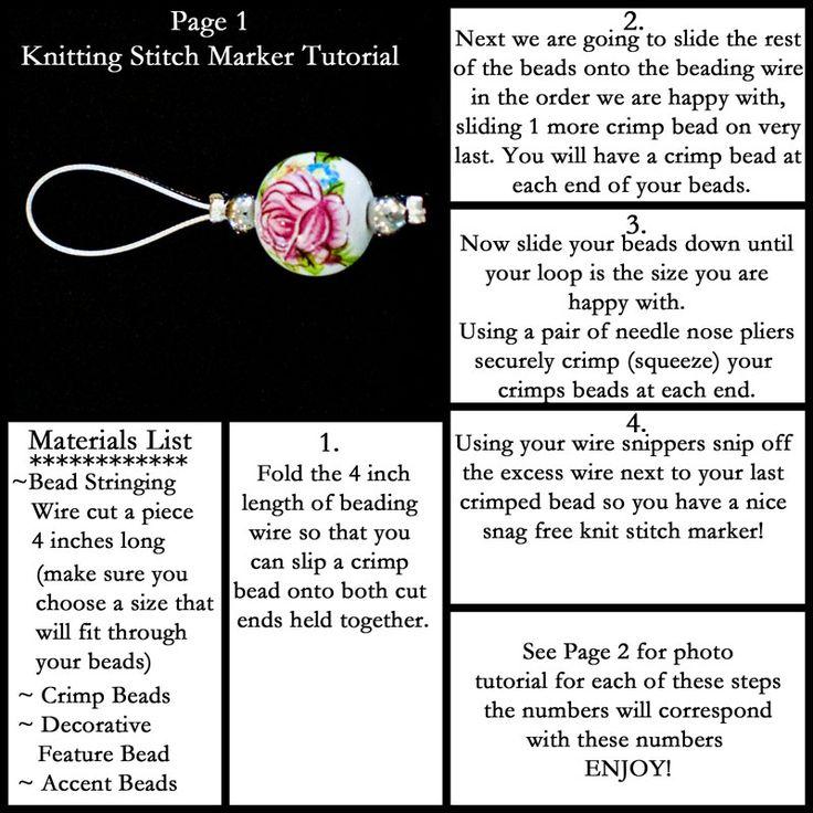 Knitting Markers Diy : Best crochet patterns images on pinterest knit