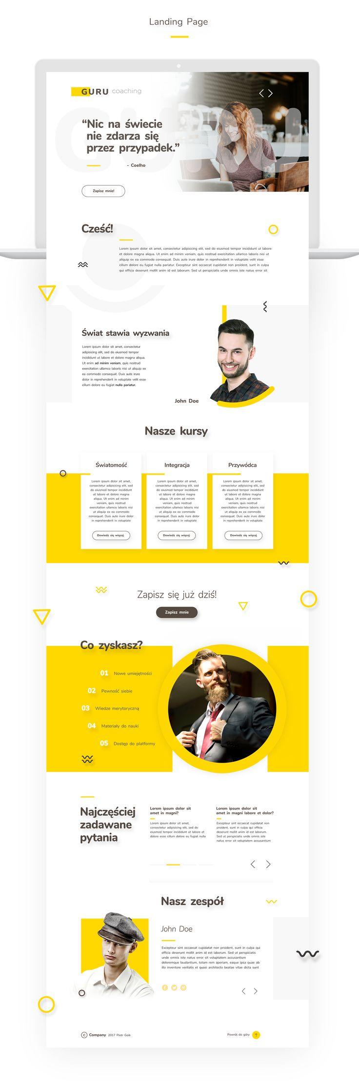 Web Design Concept - Guru on Behance