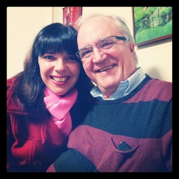 Janos e eu muito felizes no aniversário da melhor sogra do Planeta Agnes Geocze.