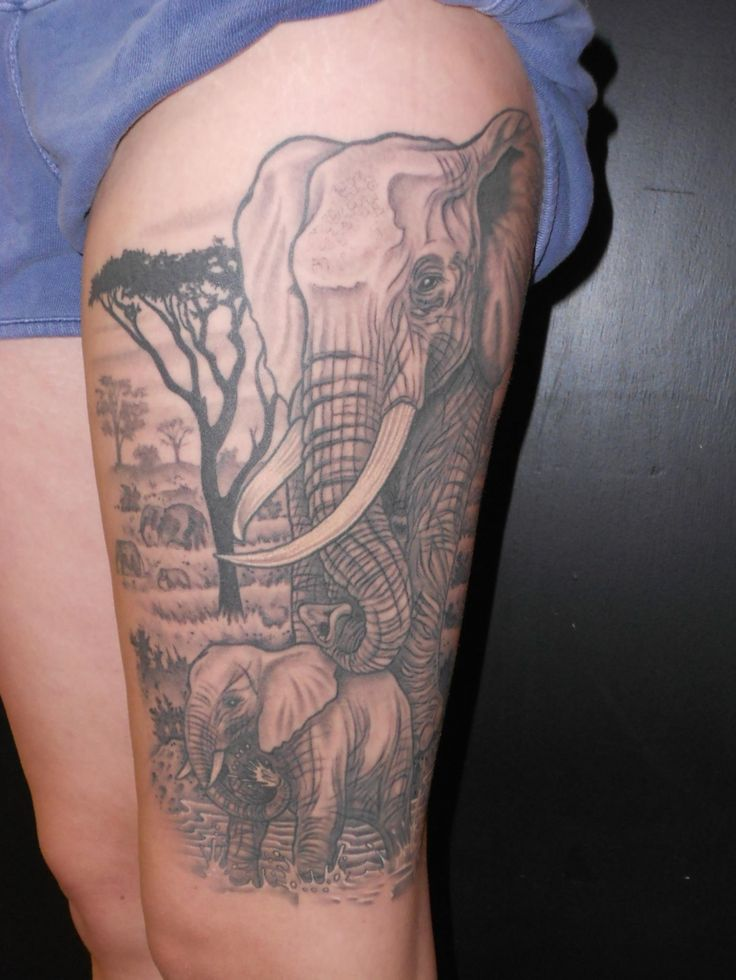 32 best feminine elephant tattoos images on pinterest elephant tattoo design elephants and. Black Bedroom Furniture Sets. Home Design Ideas