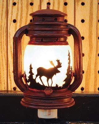 Lantern Night Light with Moose.    $16.95