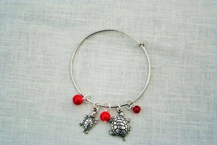 Maryland College Bangle/Charm Bracelets:  U. of Maryland, Townson U., U. of Baltimore by JewelrybyNoel on Etsy