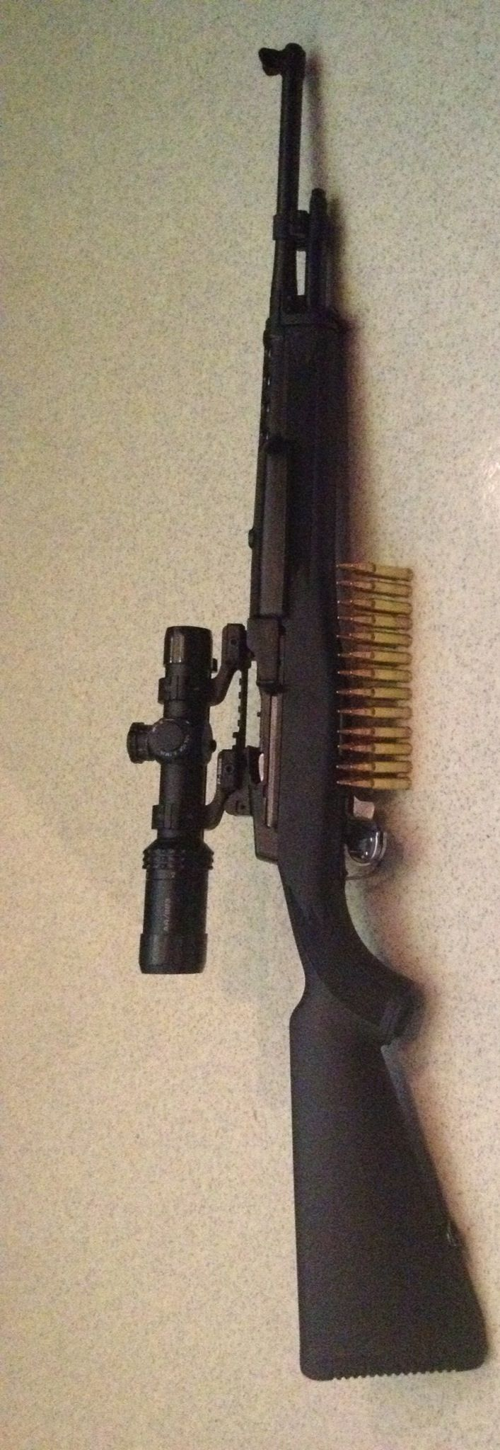 Ruger Mini 14    Socom Accu-Strut and Bushnell Scope with P Nikon mounts