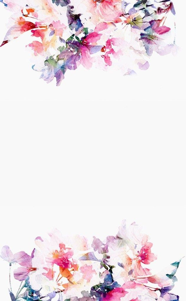 水彩画風かわいい花柄 iPhone壁紙 Wallpaper Backgrounds iPhone6/6S and Plus Water Colour Floral Pattern