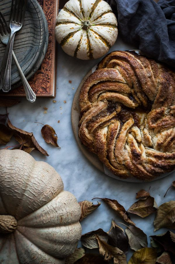 Pumpkin Caramel Puff Pastry Twist - The Kitchen McCabe