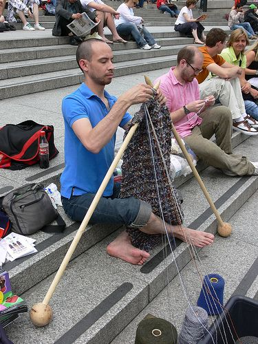 World Wide Knit in Public Day - via Studio Stella