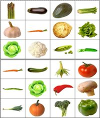 Groenten en fruitlotto, free printable / Jeu de loto à imprimer - les légumes