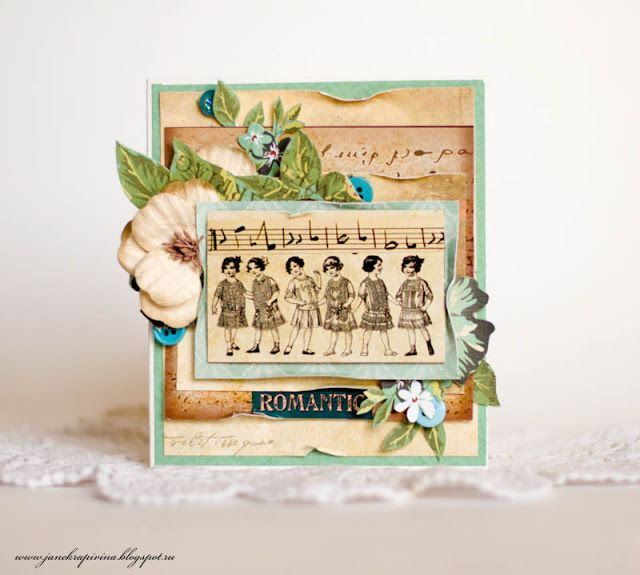 """Romantic"" Card by Guest Designer Evgenia Krapivina - C'est Magnifique November 2015 Kit"
