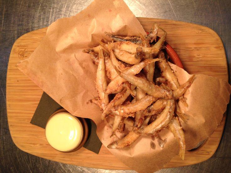 Crispy fried whitebait with aioli & smokey paprika