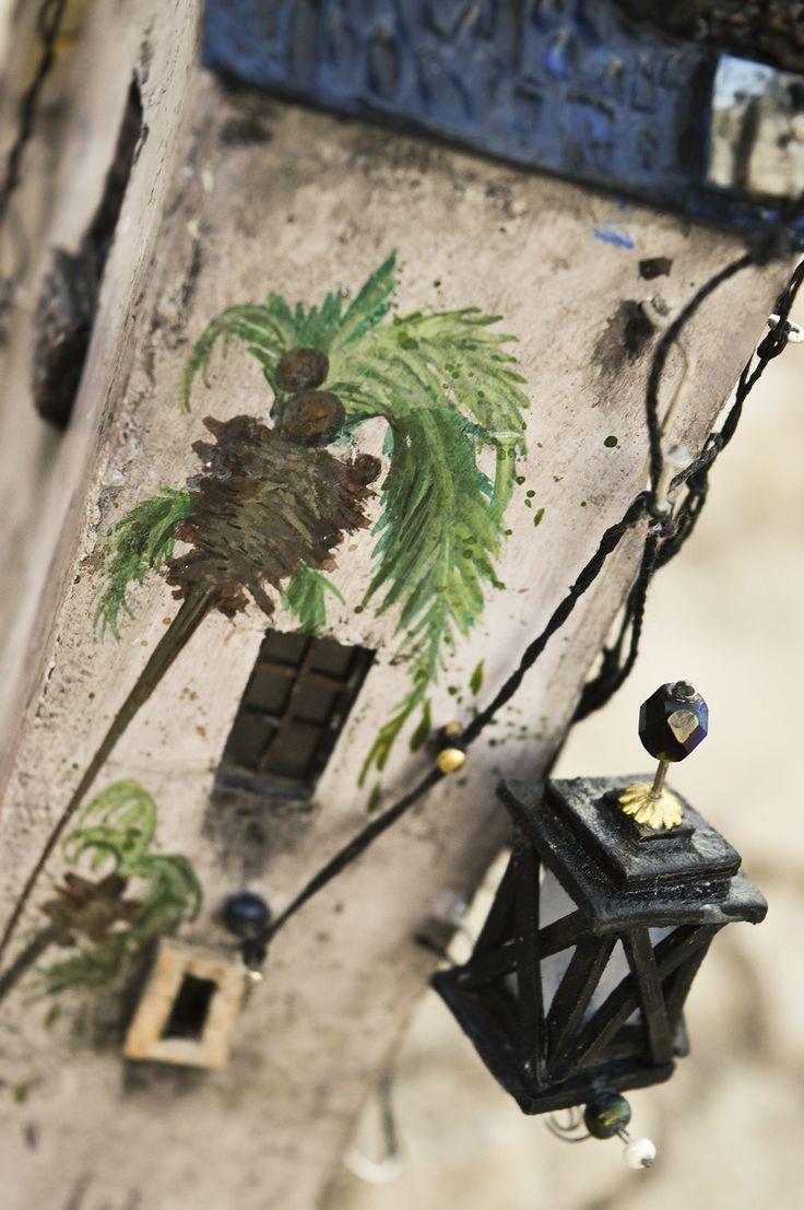 "Detail of my miniature housie ""Family""2017  Katarina Pridavkova   For more pics of this artproject visit http://pridavkova.com/project/family/   #miniatureart  #miniaturehouse  #dioramaart  #miniaturehouse  #housemodel  #architecturemodel  #modelmaking  #diorama  #pridavkova"