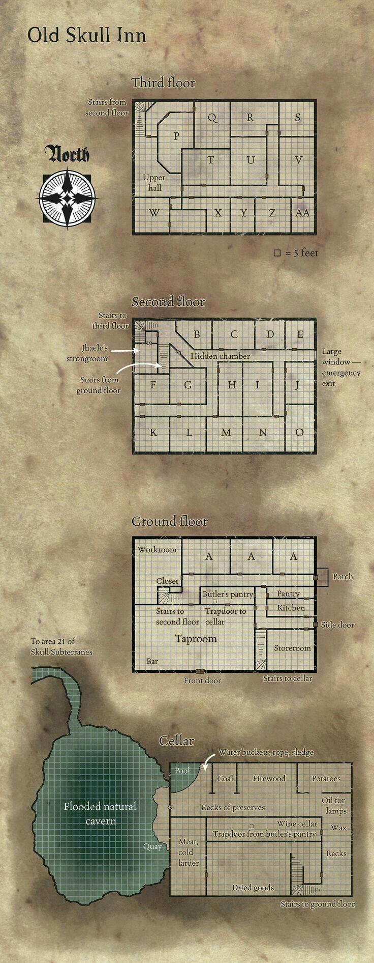 Old Skull Inn Floor plan 95 best