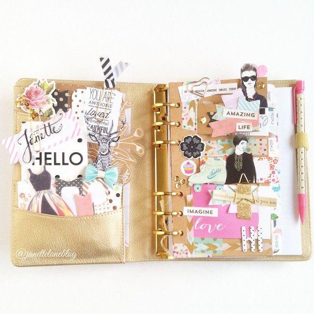 Pretty personal planner. J A N E T T E L A N E @janettelaneblog Instagram #planner #organizer #stationery