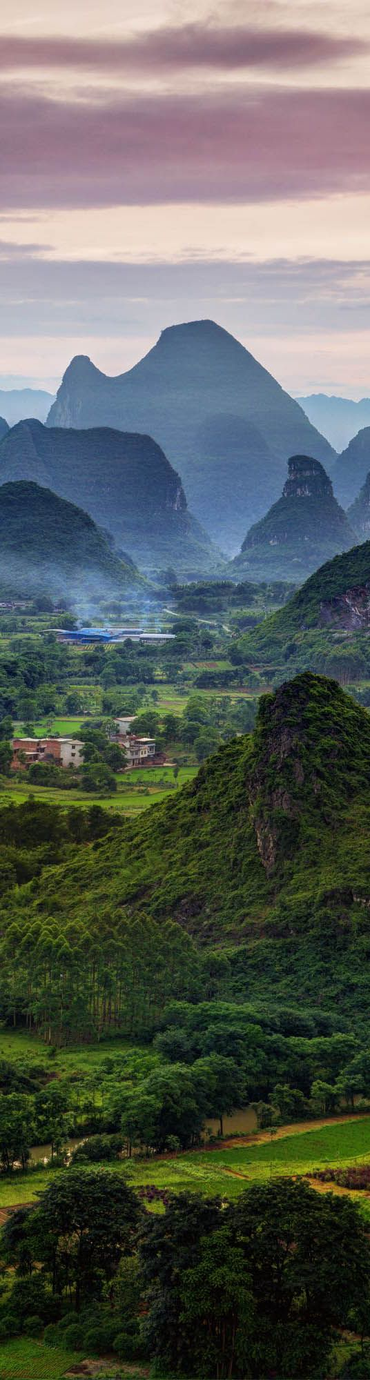 Late afternoon in the Karst of Guangxi, China - photo from #treyratcliff Trey Ratcliff at http://www.StuckInCustoms.com