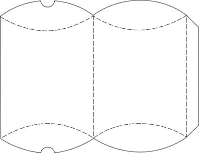 free download - pillow bag template - The large template will make a box that is approximately 6 x 4 inches (15 x 10 cm).