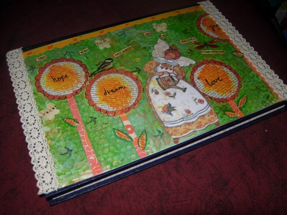 Art Journaling/Mixed media art Kit  a handmade art by eltsamp, $50.00