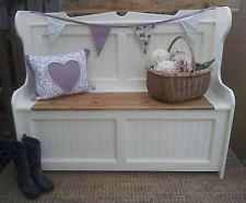 HAND CRAFTED 4FT PINE MONKS BENCH SETTLE F&B CHOOSE YOUR OWN COLOUR