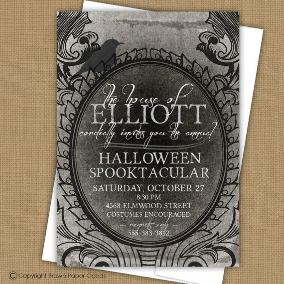 7 best invitations images on pinterest invites lyrics and text spooky halloween party invitation spooky by brownpapergoods 800 stopboris Choice Image