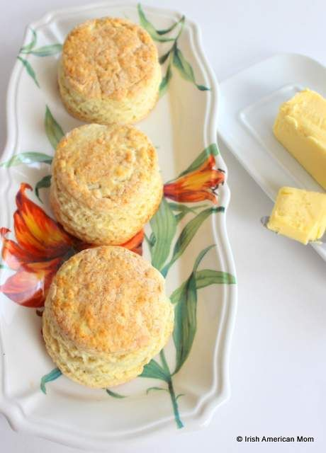 Irish buttermilk scones - delicious served with butter - get my full recipe with step-by-step photo instructions in today's blog post.