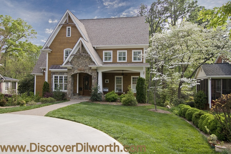 A variety of architecture and age of homes fill this popular Charlotte neighborhood - Check out the homes for sale in Dilworth Charlotte.
