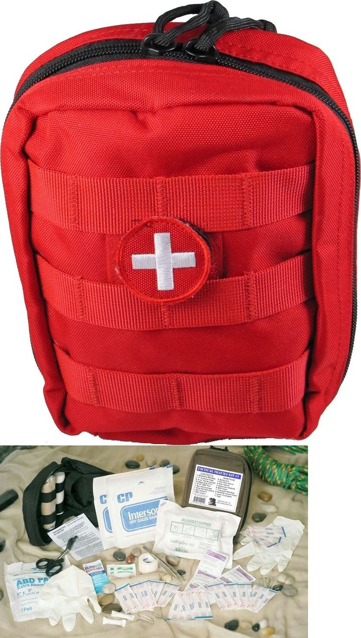 Tactical Molle Pouches 177900: Tactical Trauma Medical Kit First Aid Kits Red Molle Bag - Fully Stocked -> BUY IT NOW ONLY: $49.75 on eBay!