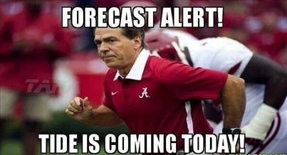 ROLL TIDE!! Alabama Crimson Tide, Nick Saban, college football