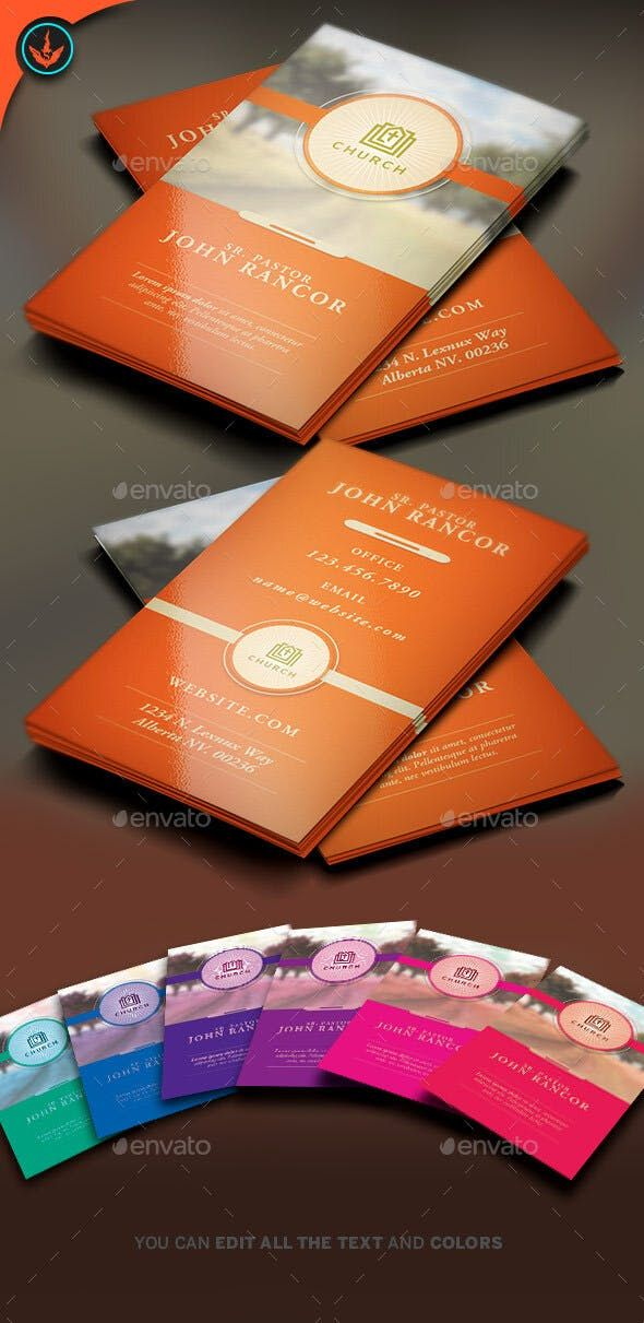Church Business Card Template 2 Business Card Template Psd Business Card Template Business Cards Creative