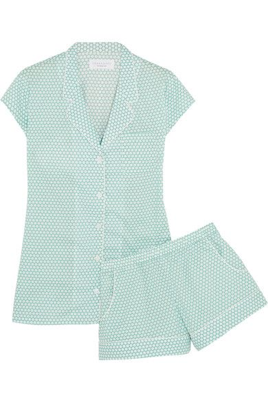 Three J NYC - Olivia Polka-dot Cotton Pajama Set - Mint -