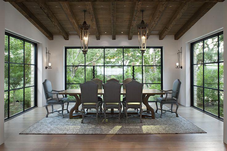 Big windows in dining room