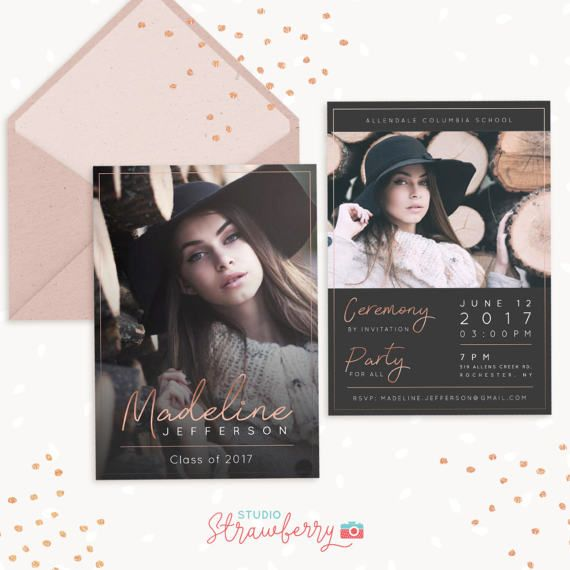 25+ ide terbaik tentang Graduation announcement template di Pinterest - graduation announcement template