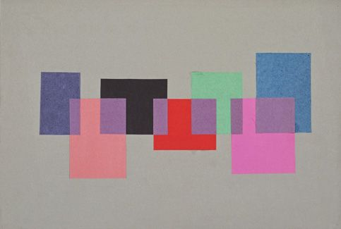 Transparency, academic year 1953–54  Lecturer: Josef Albers  Student: Christel Sztankovitz