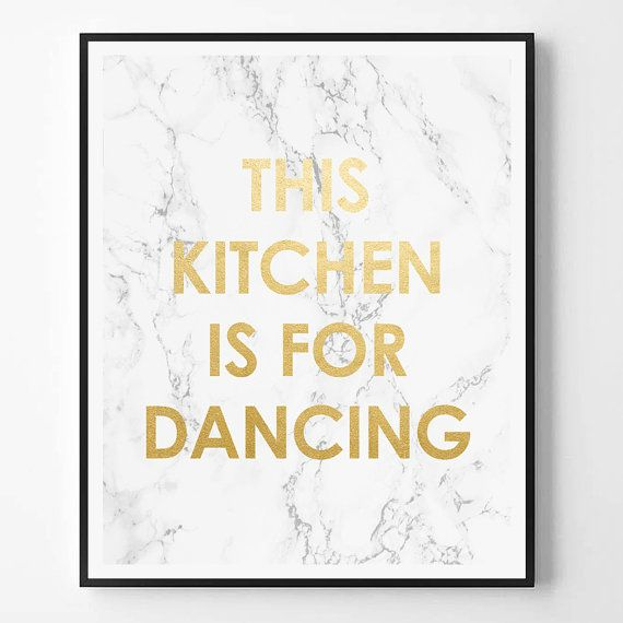 This kitchen is for dancing Quote Print by ScandiHomeDesign