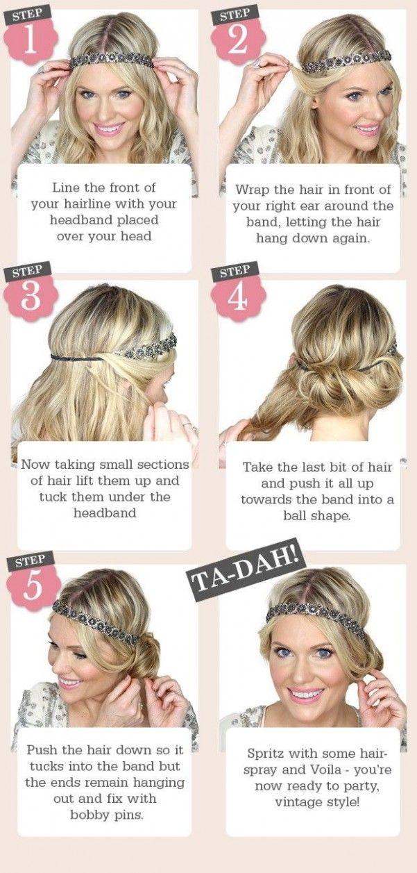How To Do A 12s Hairstyle For Medium Hair Kapsels Vintage Geinspireerde Jaren 20 Feest