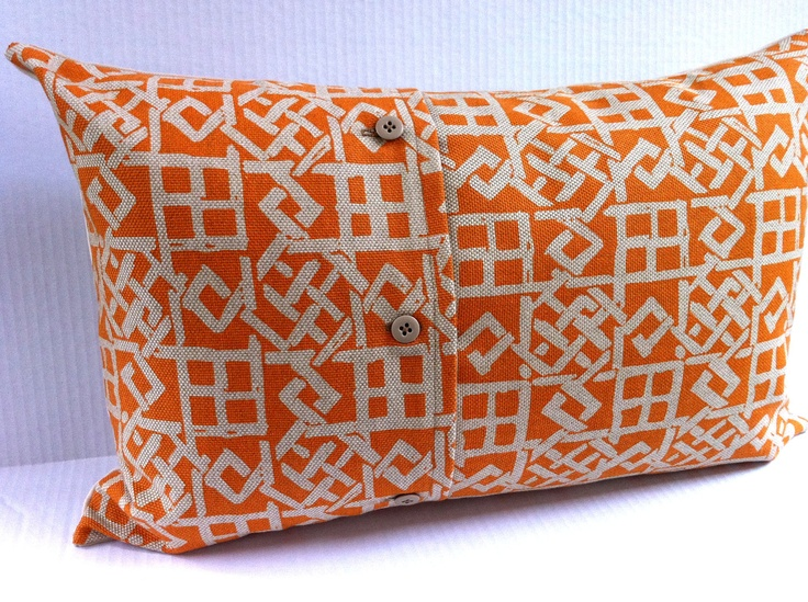 Decorative Pillow Cover - Large Lumbar Throw Pillow - Orange and Beige Texture Dream with ...