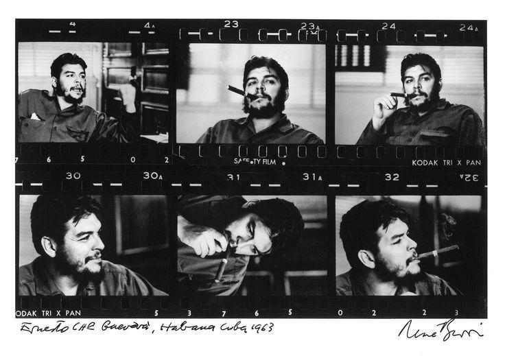 René Burri Che Guevara 1963 Kontaktbogen, Gelatine-Silberprint 22 x 34 cm aus der Skrein Photo Collection