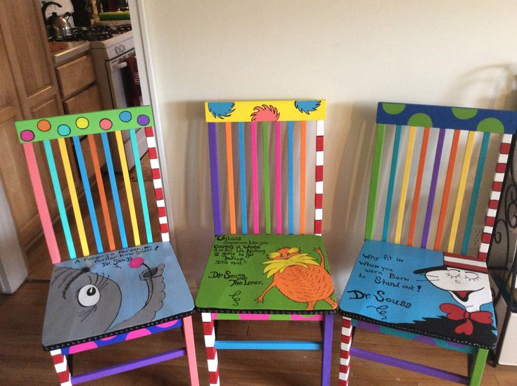 Dr. Seuss chairs.