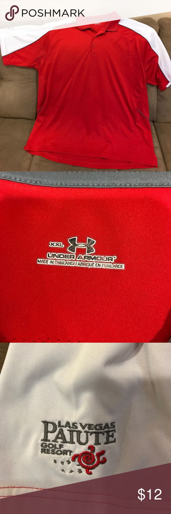 Under Armour XXL shirt Has Las Vegas Paiute Golf Resort logo on one arm.  Comes from a smoke free home.  20% discount when bundling items. Under Armour Shirts