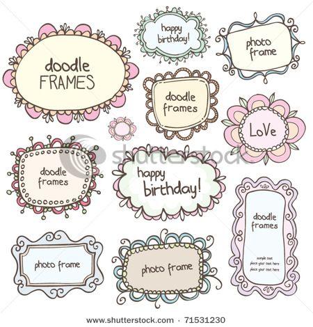 cute doodle frames                                                                                                                                                                                 もっと見る